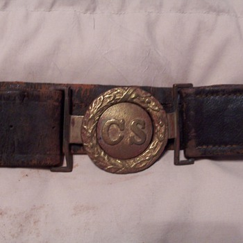 Confederate Belt and Picture - Military and Wartime