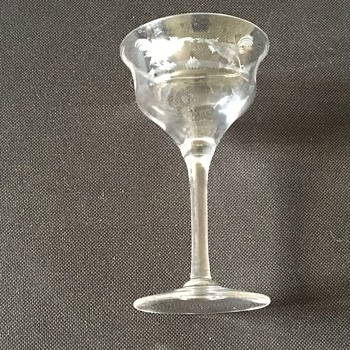 Antique engraved glass  - Glassware