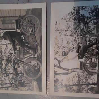 Antique  harley davidson real photo postcards  - Postcards
