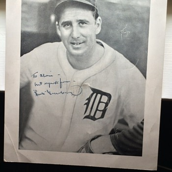 Hank Greenberg Autographed picture