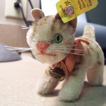 Steiff 1950's Mohair Tapsy Cat - Animals
