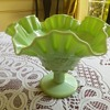 Westmoreland Glass Green Grape Compote