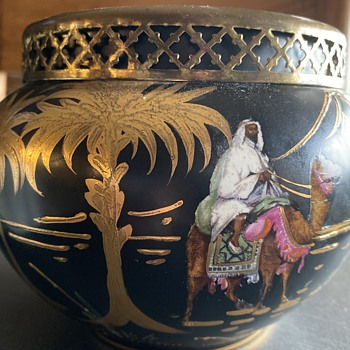 Beswick Ware Sudan Camel Palms Flower Frog  - Pottery