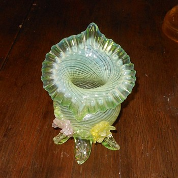 Jack In The Pulpit Vase Vaseline Glass