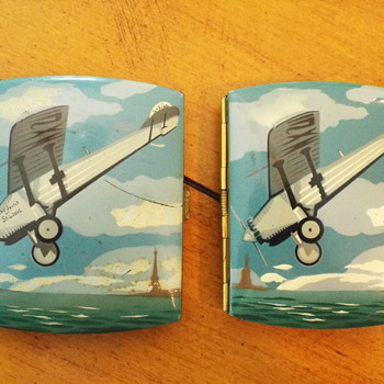 Pair of Spirit of St Louis Cigarette Cases - Tobacciana