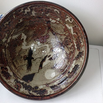 Large Studio Pottery Bowl (possibly American or Japanese?) - Pottery