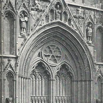 YORK MINSTER, W. PORCH  - Postcards