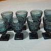 Blue colored Wine goblets