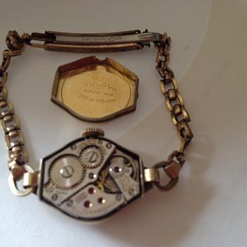 Vintage Ladies Bulova Diamond 10k gold filled Wristwatch