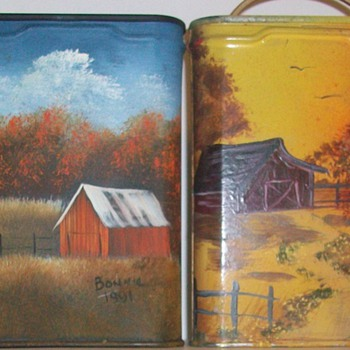 Painted over Prince Albert Pocket Tins - Tobacciana