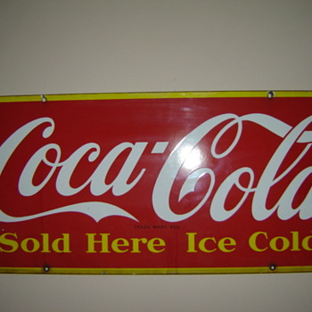 1948 Canadian Porcelain - Coca-Cola