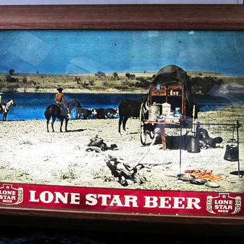 LONE STAR BEER LIGHT UP SIGN, MADE BY FOTO VUE,WEATHERFORD,TX. - Signs