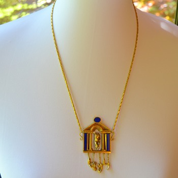 Gorgeous Gold and Lapis Necklace