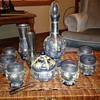 Beautiful Blue decanter set