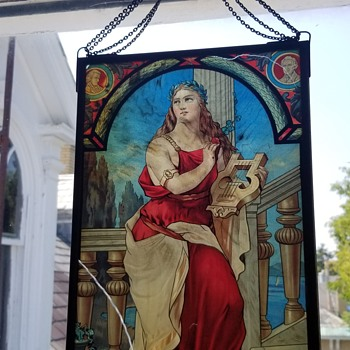 Antique stained glass lithograph - Fine Art