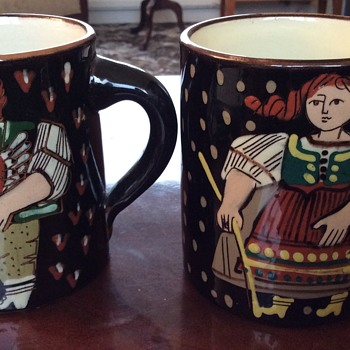 Vintage Swiss Pottery Mugs