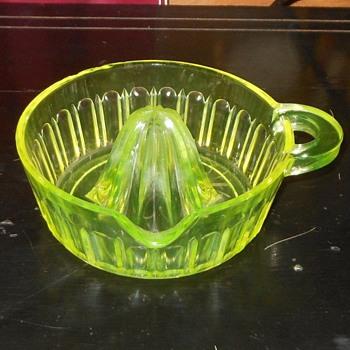 Vaseline Glass Reamer H. C. Fry Glass - Glassware