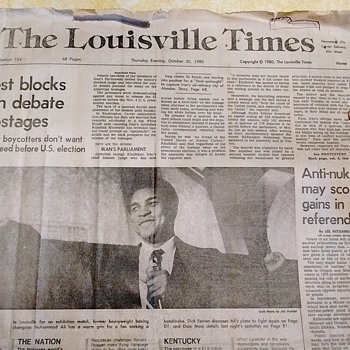 Muhammed Ali in The Louisviile Times