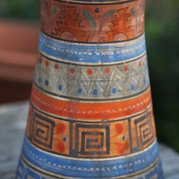 Aztec Pottery Vase - Tonala, Mexico - Pottery