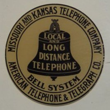 Missouri and Kansas Telephone Company Sticker - Telephones