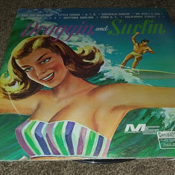 'Draggin And Surfin'..On 33 1/3 RPM Vinyl - Records