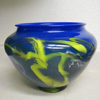 "My Famous Artist Bargain Find 12"" Andrew Merrick Bowl Or Vase-Gorgeous!! - Art Glass"