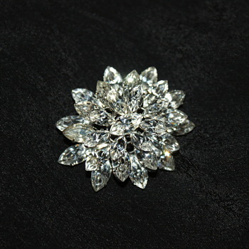 Vintage Rhinestone Brooch - Made in Austria  - Costume Jewelry