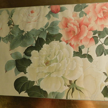 "Antique Japanese Woodblock  ""Floral Study"" by Tanigami Konan 1879-1923 Imported directly by A & S, Inc. Brooklyn N.Y. - Fine Art"