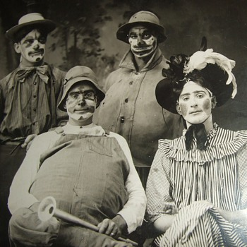 """Bunch of Clowns""  Real Photo PostCard - Photographs"