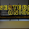 Western Union, Neon sign, Late 1980-90
