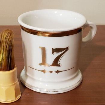 Koken Limoge Shaving Mug 1900's - Accessories