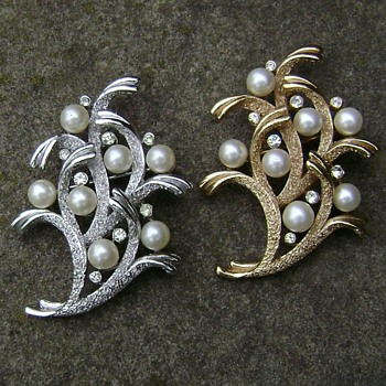 Trifari Brooch Set - Under the Sea Collection - Costume Jewelry