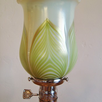 Loetz PG 2409 on PN II-2409 shade - Art Glass