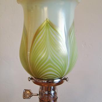 Loetz PG 2409 on PN II-2409 shade - Art Glass