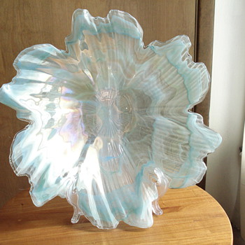 Large art glass bowl - Art Glass