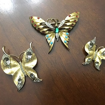 Trifari and Panetta butterflies  - Animals