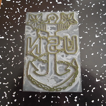 United States Navy Steel Plate Stamp ? - Military and Wartime