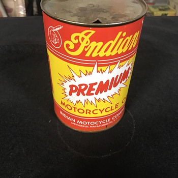 Rare Indian motorcycle oil can  - Motorcycles