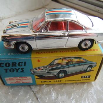 Corgi Toys 315 Simca 1000 Competition Model - Model Cars