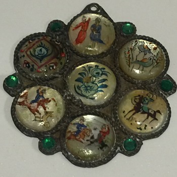 Persian Story Painted Pendant - Fine Jewelry