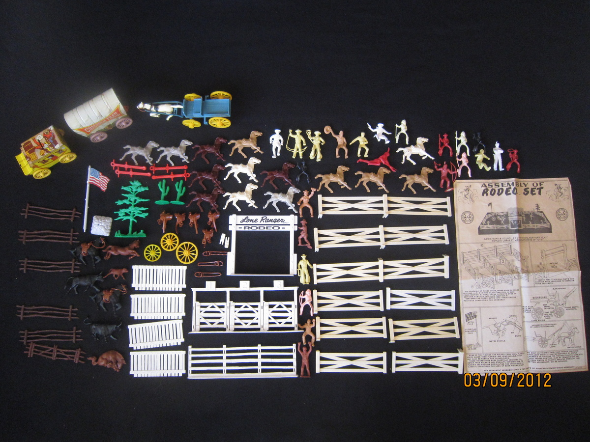 ORIGINAL VINTAGE THE LONE RANGER SPARES PARTS FROM PLAY SETS