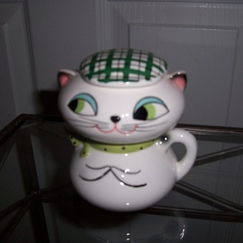 Holt Howard Pixieware Sugar and Creamer Cat - Kitchen