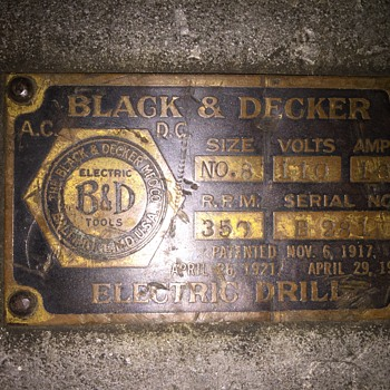 No. 8 Black and Decker drill -rare - Tools and Hardware
