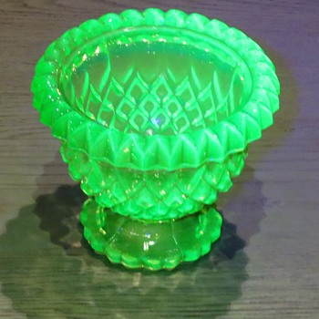 Vaseline glass Fairy Lamp Base? - - Glassware