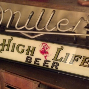 Miller High Life Beer Neon Light up Sign