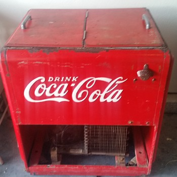 Old coke ice chest