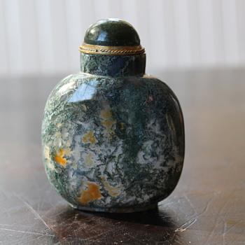 Moss Agate Snuff Bottle