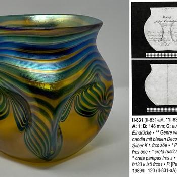 Loetz Phänomen Genre Vase, st PG 830, PN II-831, ca. 1900 - Art Glass
