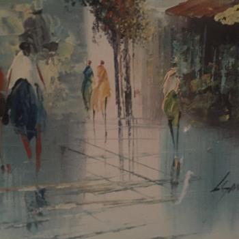 Paris oil painting and street scene oil painting - Fine Art