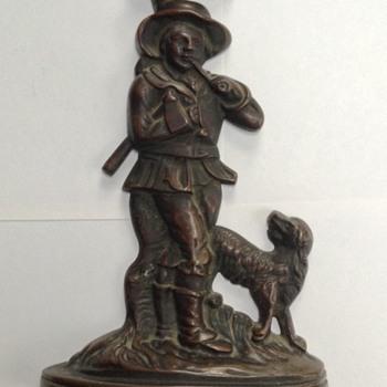 18th Century Woodcutter with Dog Bronze Unknown  Origin/ Maker - Fine Art
